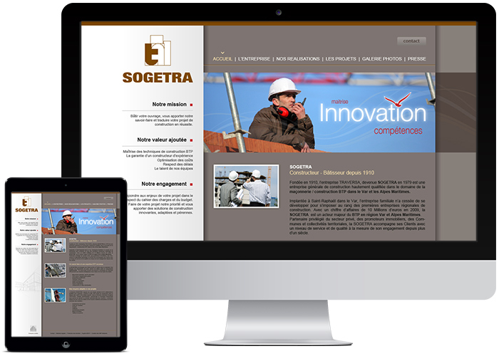 creation site internet sogetra-btp